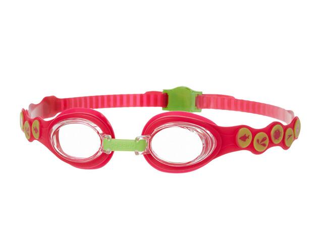 speedo Sea Squad Goggle Juniors Passion Pink/Hydro Green